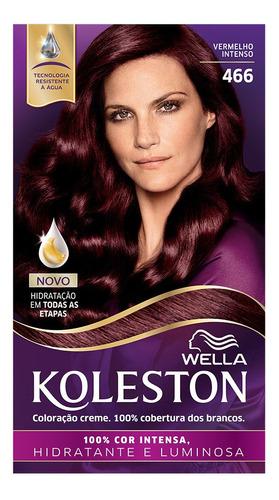Coloração Creme Koleston Kit Vermelho Intenso 466