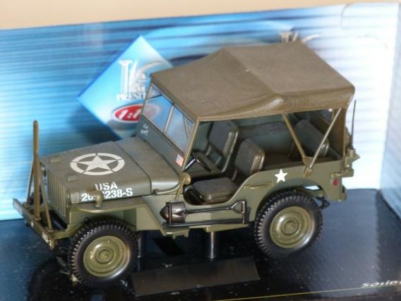 Jeep Willys Militar - 1:18 Solido - Novo Na Caixa, Raridade