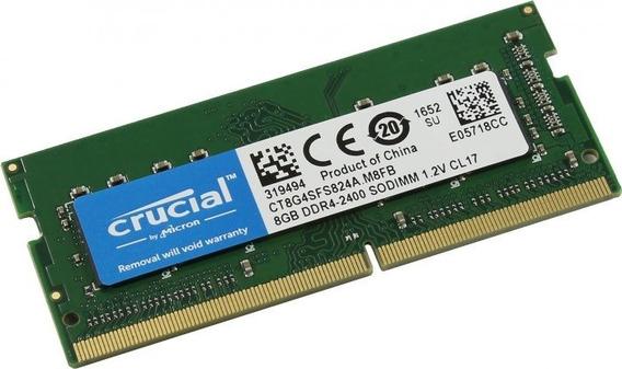 Memoria Crucial 8 Gb Ddr4 Pc4 2400 Ct8g4sfs824a.c8fdd1 Note