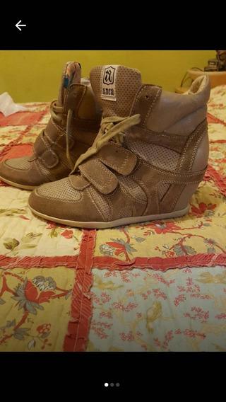 Zapatos Marca Anca Original Con Taco Escondido Talle 37