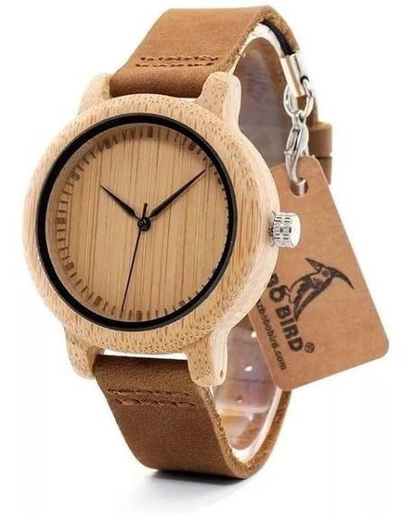 Oferta! Relógio Unissex Bambu Analógico Bobo Bird L19
