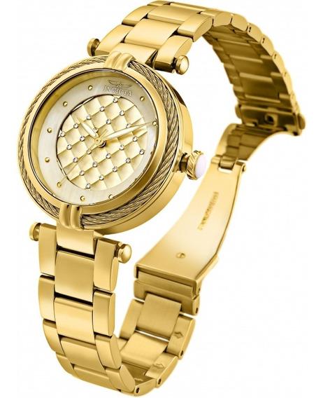 Relógio Invicta Bolt Modelo 28927 Original Banhado Ouro