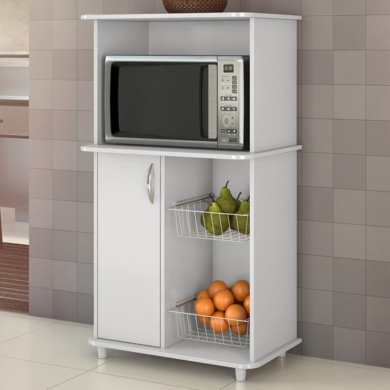 Mueble Estante Rack Microondas , Horno Eléctrico + Frutera