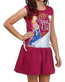 Vestido Infantil Disney Frozen Diversas Cores!novo