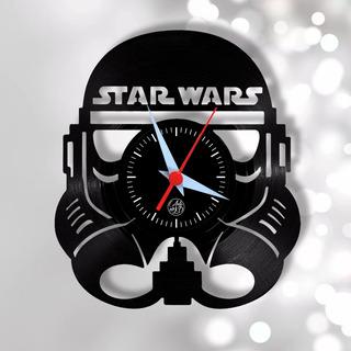 Star Wars Stormtrooper Geek Cinema Relógio Parede Vinil Arte