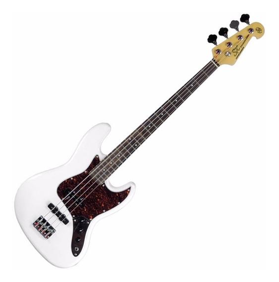 Contra Baixo Sx Jazz Bass Bd1 4 Cordas Branco Wt Com Bag