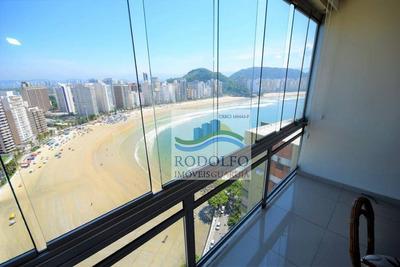 Guarujá Astúrias, 3 Dts Sendo 3 Suites, Vista Para O Mar, 3 Vagas, Lazer Com Piscina E Churrasqueira. - Ap0770