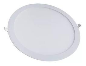 Kit C/5 Plafons Led Embutir Redondos 18w Branco Frio Ctb
