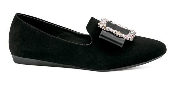 Gosh Zapatillas Flats Vestir Piso Broche Estoperoles 0378781