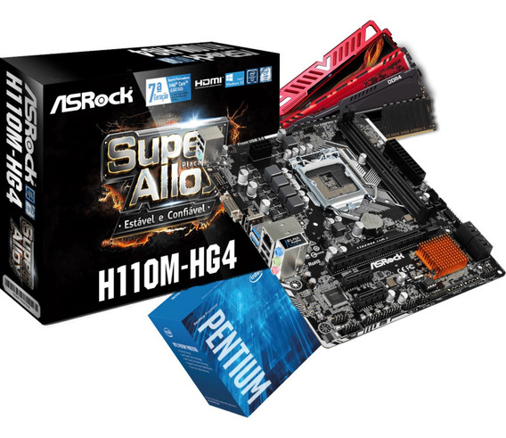 Kit Intel Pentium G4560 Mb H110m Hg4 2x Fury 4gb 2400mhz