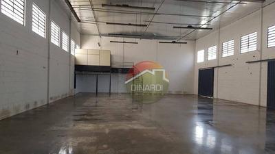 Galpão Para Alugar, 714 M² Por R$ 14.000/mês - Parque Industrial Lagoinha - Ribeirão Preto/sp - Ga0534