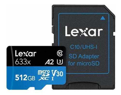 Imagem 1 de 3 de Cartão Micro Sd Lexar 512gb - 100% Original ! P. Entrega !