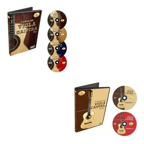 Coleção Curso De Viola Caipira Em 6 Dvds - Bira - Original