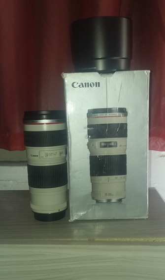 Vendo Lente Canon 70 200 Na Caixa E Com Todos Os Acessórios