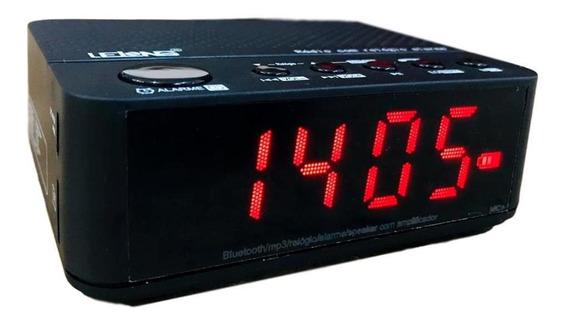 Rádio Relógio Digital Bivolt Despertador Bluetooth Bateria