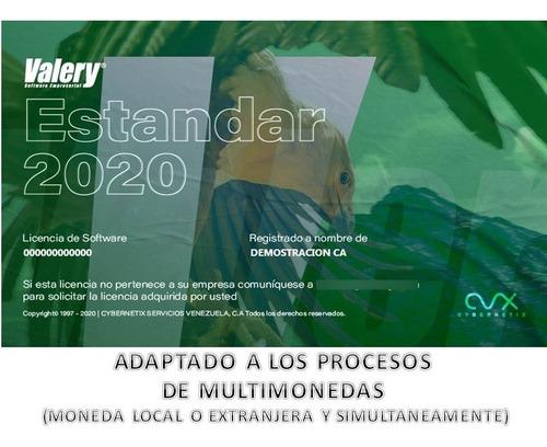 Imagen 1 de 6 de Actualización Valery® Estandar 2020-100% Legal - Multimoneda