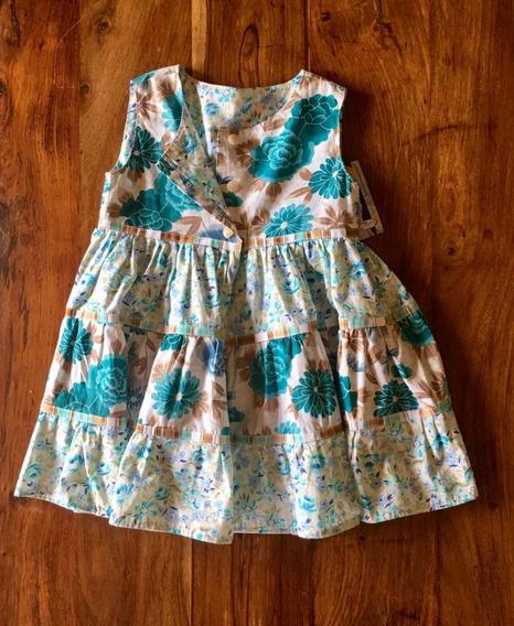 Vestido Flores Turquesa 3-4 Años