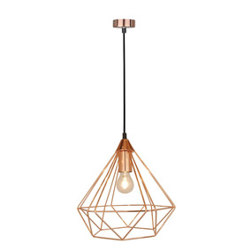Pendente Diamante Aramado Lamp Show Rosé Gold Fe