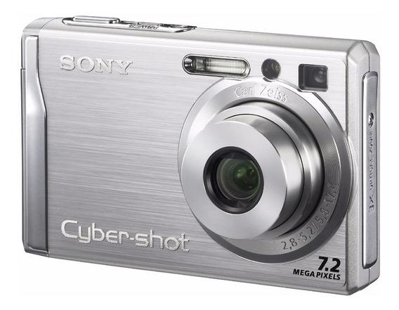 Câmera Digital Sony Cyber-shot W80 Prata 7.2mp - Raríssima