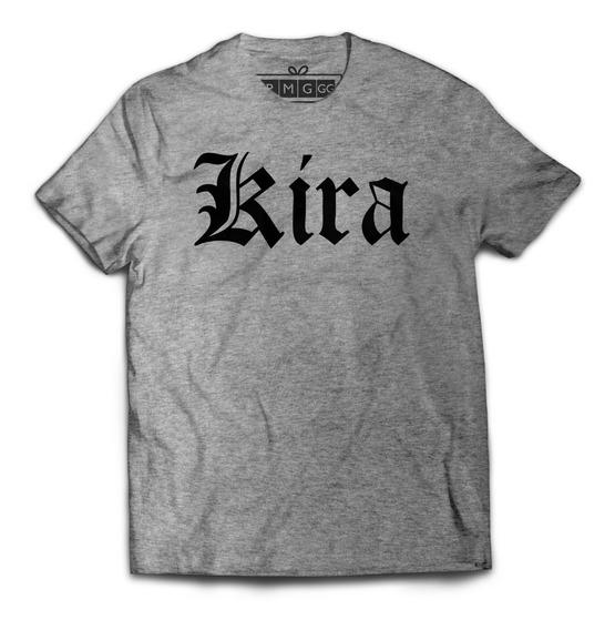 Camiseta Camisa Kira Death Note Light Yagami L Anime Ryuk