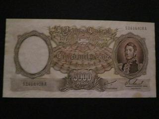 Billete Serie Nacional 5 Mil Pesos