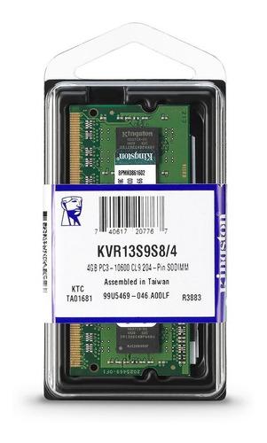 Imagen 1 de 3 de Memoria RAM ValueRAM color Verde  4GB 1 Kingston KVR13S9S8/4