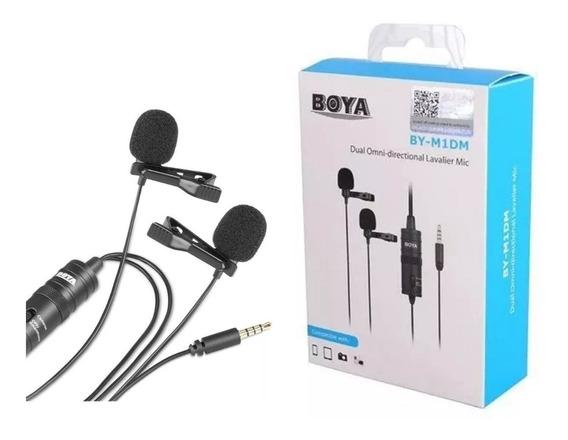 Boya Original By-m1 Dm 2 Mics Microfones Lapela Duplo Mic 2