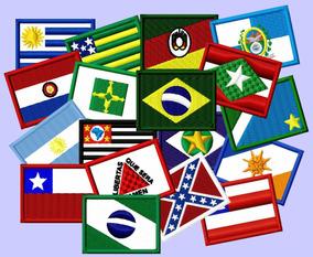 Patch Bordado Mini Bandeira 40x30 (estados/países)