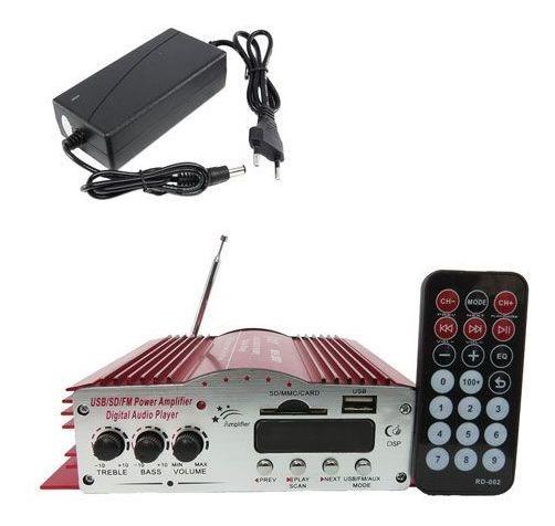 Mini Modulo Amplificador 4 Canais + Fonte 12v Super Oferta