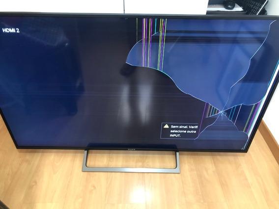 Tv Sony 55 Polegadas - 4k - Kd-55x705e - Tela Quebrada