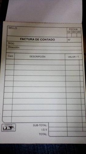 Pack De 4 Talonarios De Facturas Genéricos.