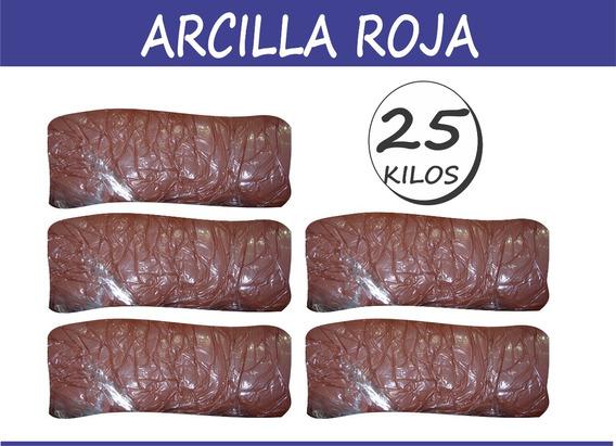 25 Kilos Arcilla Roja Pasta Ceramica Ceramista Escultor