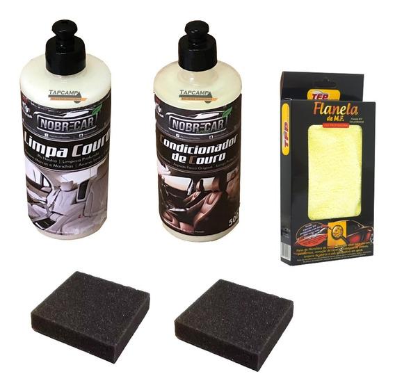 Limpador + Condicionador De Couro Nobre Car Limpa E Hidrata
