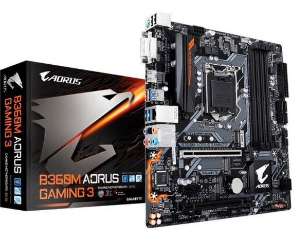 Placa-mãe Gigabyte P/ Intel 1151 B360m Aorus Gaming 3 4xddr