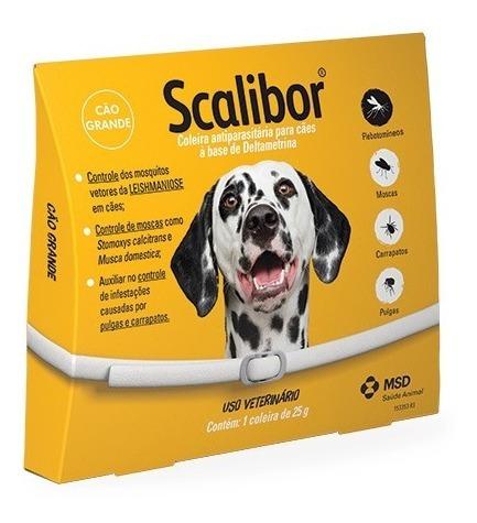 Coleira Antiparasitária Scalibor 25g - 65 Cm - Msd