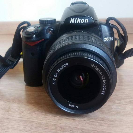 Câmera Nikon D5000, Lentes, Flash E Tripé