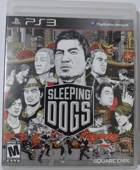 Jogo Mídia Física Ps3 Sleeping Dogs, Sem Riscos