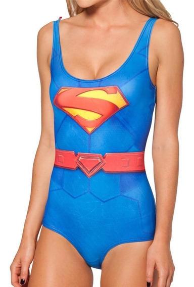 Traje De Baño Superman Lycra Leotardo