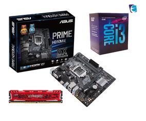 Kit Core I3 8100 Asus Prime H310m E Ballistix 8gb Bls I