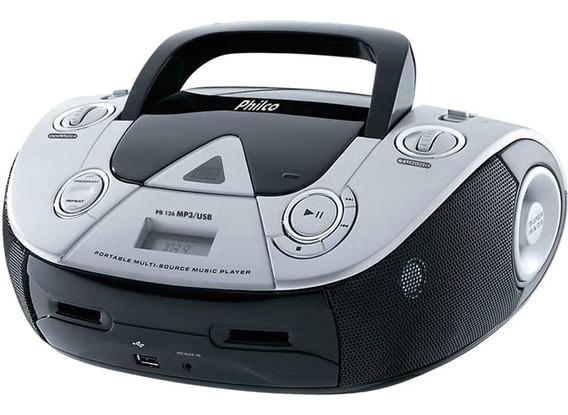 Rádio Philco 4w Rms Usb Cd Fm Mp3 Pb126