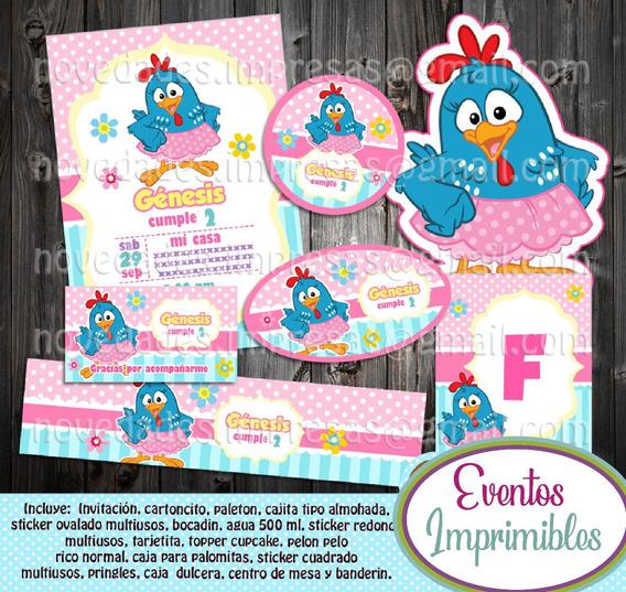Candy Bar Gallina Pintadita Invitaciones Recuerdos