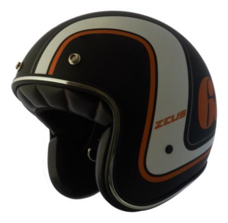 Capacete Zeus 380h V2 Rusty 3 Matt Black/k36 Orange