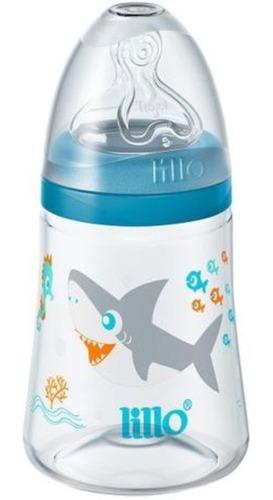 Mamadeira Smart Fluxo Médio 180ml Tubarão Azul - Lillo