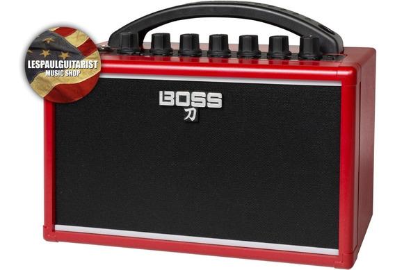 Cubo Mini Amplificador Boss Katana Mini Red Vermelho Delay