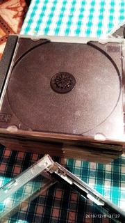 Cajas Cds/dvds Transparentes Y Negras X 10 Unidades
