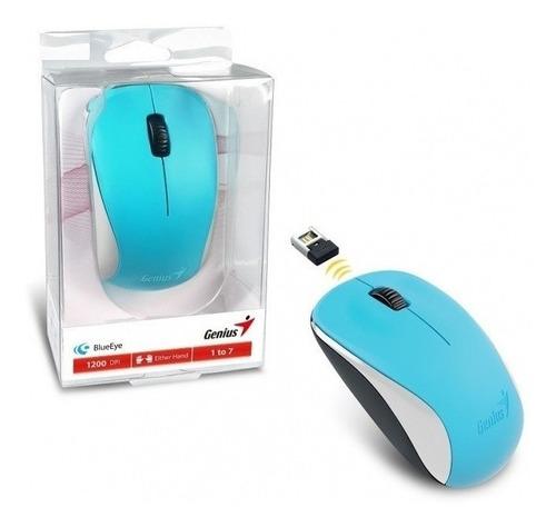 Imagen 1 de 5 de Mouse Inalambico Genius Nx-7000 Blueeye Usb Celeste