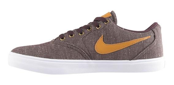 Zapatillas Nike Sb Check Cnvs Premium Marron