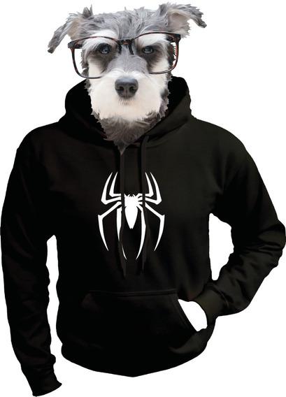 Sudadera De Traje Spiderman Black Hombre Araña Negro Marvel