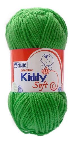 Imagen 1 de 3 de Bolsa 6 Pzas Estambre Liso Brillante Kiddy Soft Cisne Coats