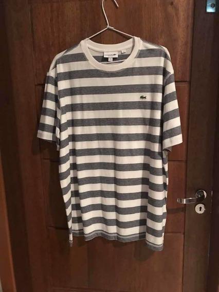 Camiseta Lacoste Original Xgg Listras